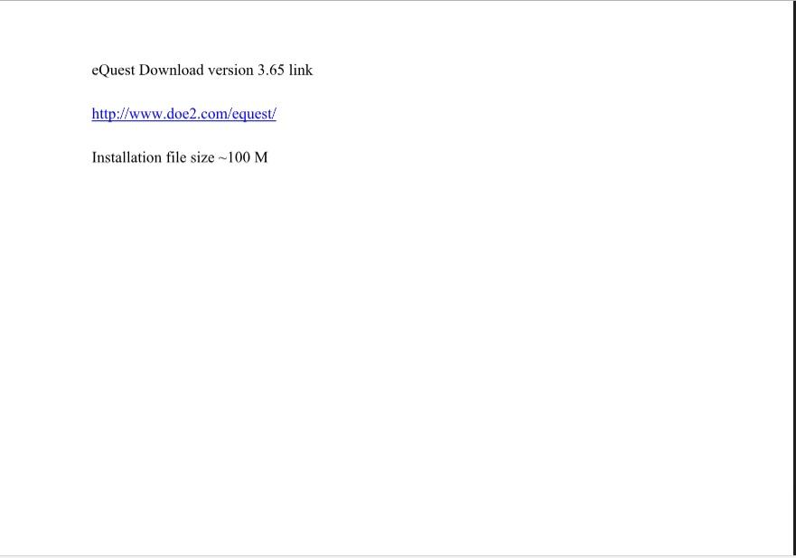 eQuest 3.65 Download Link